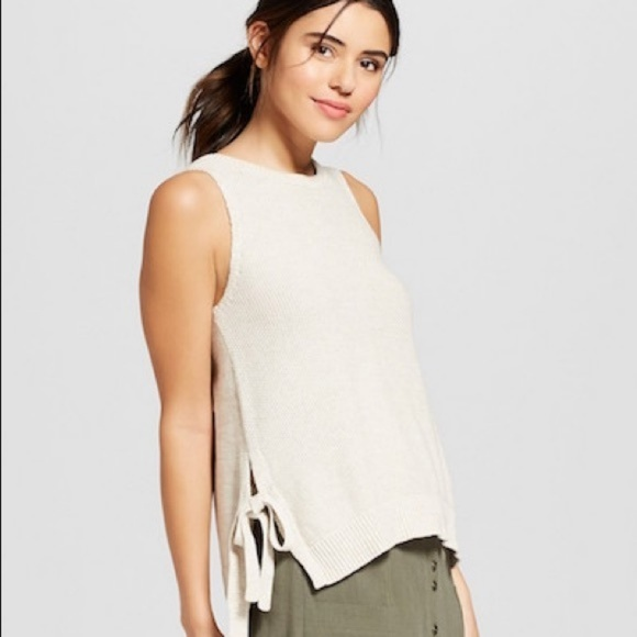 Universal Thread Tops - Knit Tank with tie detail